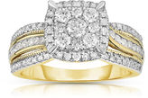 MODERN BRIDE Womens 1 CT. T.W. Genuine Round White Diamond 10K Gold Engagement Ring