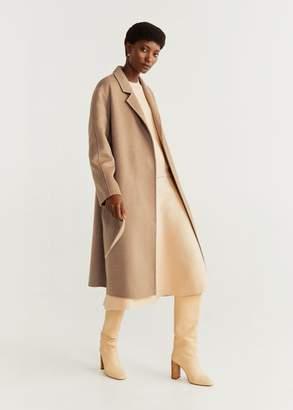 MANGO Belted wool coat grey - XXS - Women