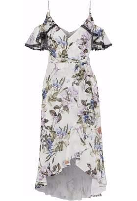 Nicholas Ruffled Floral-print Silk-chiffon Dress
