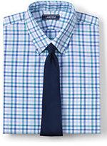 Lands' End Men's 40s Poplin Dress Shirt-Fresh Blue Multi Gingham