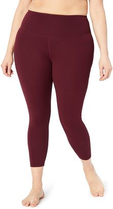"Core 10 Amazon Brand Women's Spectrum Yoga High Waist 7/8 Crop Legging - 24"""