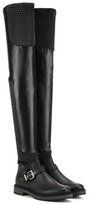 Fendi Waves Quilted Leather Over-the-knee Boots