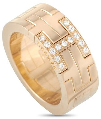 Heritage Hermes Hermes 18K H Motif Ring