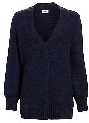 Akris Punto Women's Oversize V-Neck Pullover