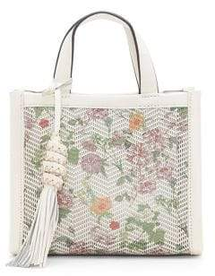 Vince Camuto Indra Floral Leather Bag