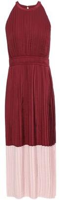 Joie Aleanna Pleated Two-tone Woven Midi Dress