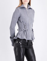 Alexander McQueen Lace-up detailed wool cardigan