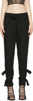Ann Demeulemeester Black Straps Trousers