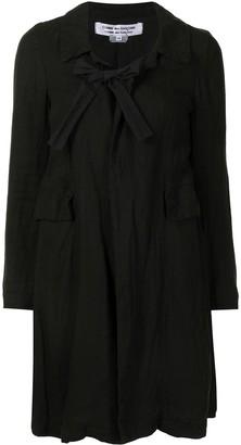 Comme Des Garçons Pre-Owned Bow Detail Midi Coat