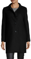 Maje Knit Collar Midi Coat