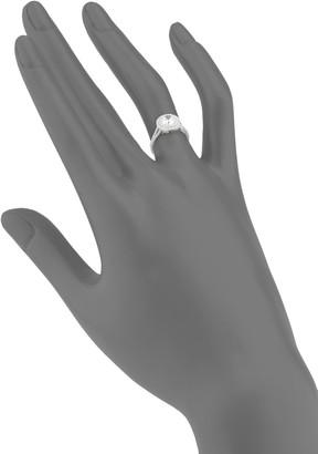 Lafonn Classic Sterling Silver & Simulated Diamond Halo Ring