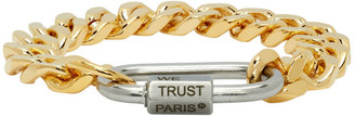 IN GOLD WE TRUST PARIS Gold and Silver Cuban Link Bracelet