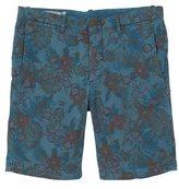 Printed 5 pocket bermuda shorts