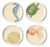 Sea Life Dessert Plates