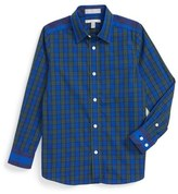 Nordstrom Toddler Boy's Plaid Cotton Dress Shirt