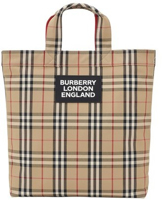 Burberry Artie vintage check tote bag