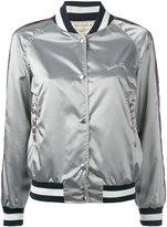 MAISON KITSUNÉ zipped jacket - women - Polyamide/Acetate/Viscose - S