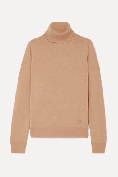 d35c239ca1d Embroidered Cashmere Turtleneck Sweater - Beige