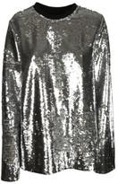 MSGM Metallic Sequin Blouse