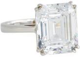 FANTASIA 14k White Gold Single Cubic Zirconia Ring