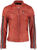 Redskins Rivas Rocho Leather Jacket Orange
