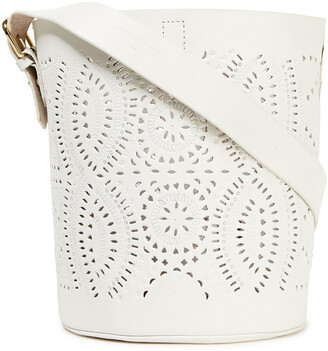 Antik Batik Ligo Laser-cut Leather Bucket Bag