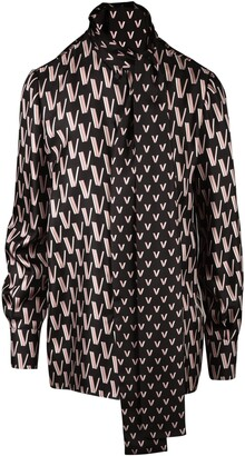 Valentino Double V Printed Top