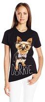 Goodie Two Sleeves Juniors Dorkie Dog Graphic Tee