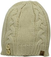 BearPaw Women's Cable Knit Hat with Buttons