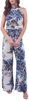 En Creme Blue Floral Jumpsuit