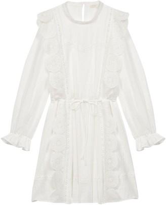 Maje Ravia Lace Scallop Dress