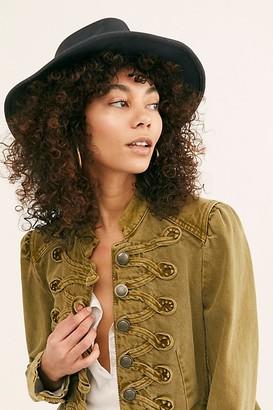 Ale By Alessandra Peyton Distressed Felt Wide Brim Hat