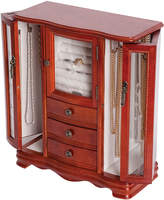FINE JEWELRY Mele & Co. Richmond Upright Walnut-Finish Wood Jewelry Box