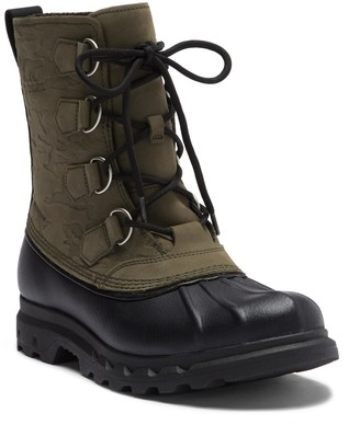 Sorel Portzman Classic Camo Waterproof Leather Boot