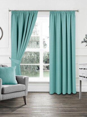 Woven Pleated Blackout Curtains