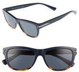 Valentino Women's 53Mm Rectangle Sunglasses - Blue/ Havana