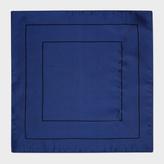 Paul Smith Men's Mauve Concentric Square Pattern Silk Pocket Square