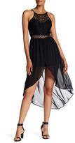 Amy Byer A. Byer Sleeveless Lace Top Hi-Lo Romper (Junior)