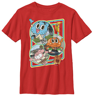 Fifth Sun Boys' Tee Shirts RED - Amazing World of Gumball Red Town Heroes Tee - Boys