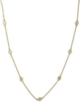 Effy Super Buy 14K Yellow Gold and Diamonds Necklace