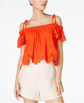 Astr Nadia Cold-Shoulder Crop Top
