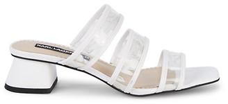 Karl Lagerfeld Paris Maci Transparent Strap Block-Heel Slides