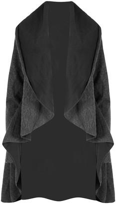 Fashion Star Womens Cardigan Baggy Knit Oversized Waterfall Long Sleeve Coat Jacket Grey