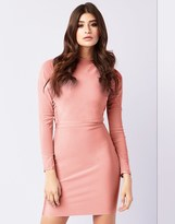 Lipsy Mesh Long Sleeve Bodycon Dress