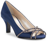 Caparros Eliza Rhinestone Metallic Open-Toe High Heels