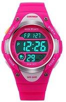 Girls Watches Kids watches Children Watch Digital Watch Waterproof Sports Casual LED Wrist Watches rose