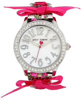 Betsey Johnson Lace It Up Floral Watch