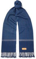 Il Bussetto Fringed Checked Woven Cotton Scarf