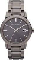 Burberry Watch, Men's Swiss Gunmetal Ion Plated Stainless Steel Bracelet 38mm BU9007