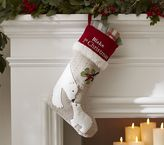 Pottery Barn Kids Baby's 1st Christmas Woodland Stocking